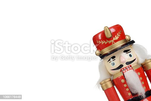 old fashioned wooden nutcracker isolated