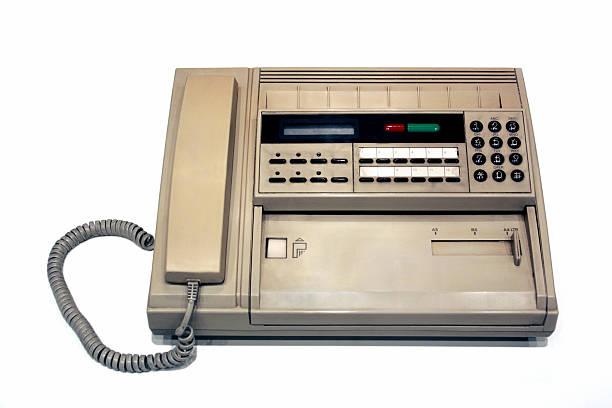old faxgerät - nostalgie telefon stock-fotos und bilder