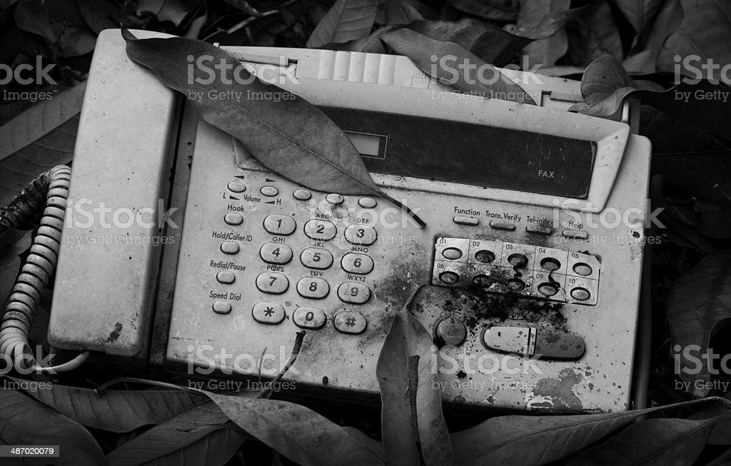 Vieja máquina de fax - Foto de stock de Abstracto libre de derechos