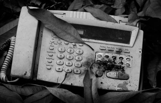 Vieja Máquina De Fax Foto de stock y más banco de imágenes de Abstracto