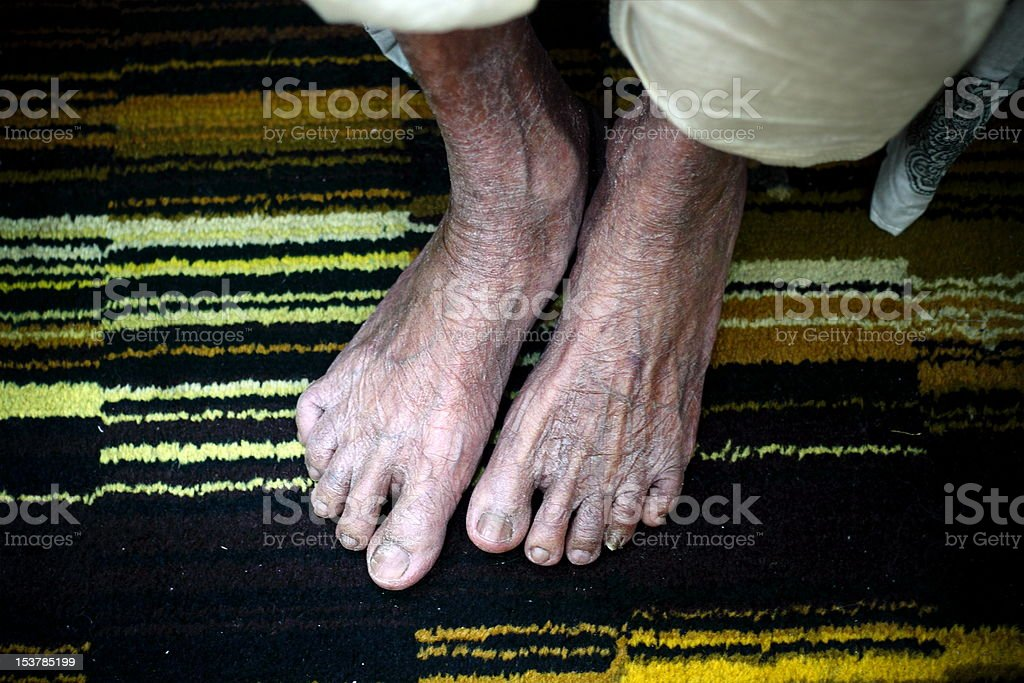 Old Feet royalty-free stock photo
