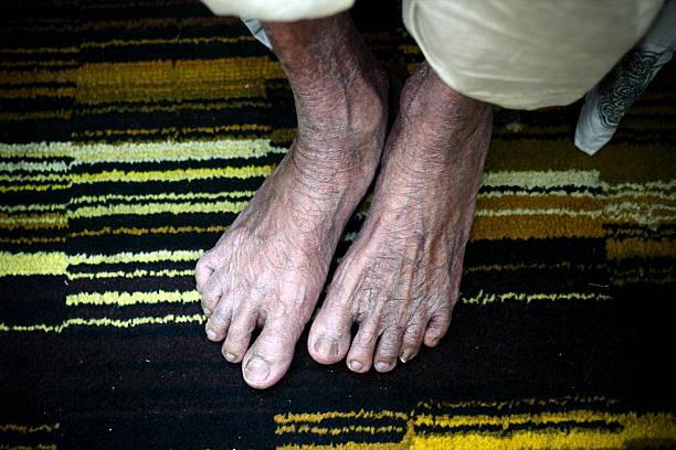 Old Feet stock photo