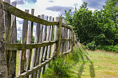 istock Old Fence in Park Meadow 1167241993