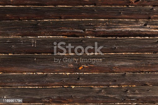 Old fence with peeling oil paint. Background
