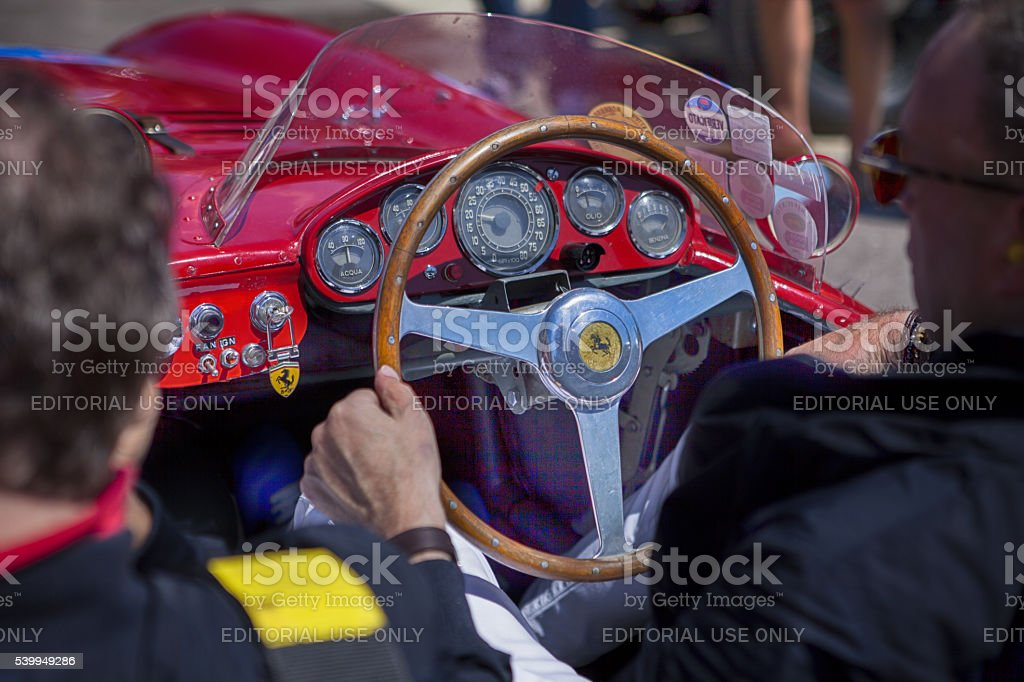Old Ferrari for Mille Miglia 2016 stock photo