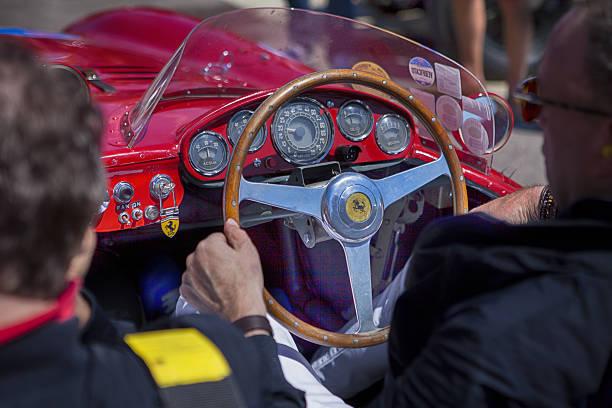 Old Ferrari for Mille Miglia 2016 stock photo