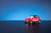 Old Fiat 500 toy car