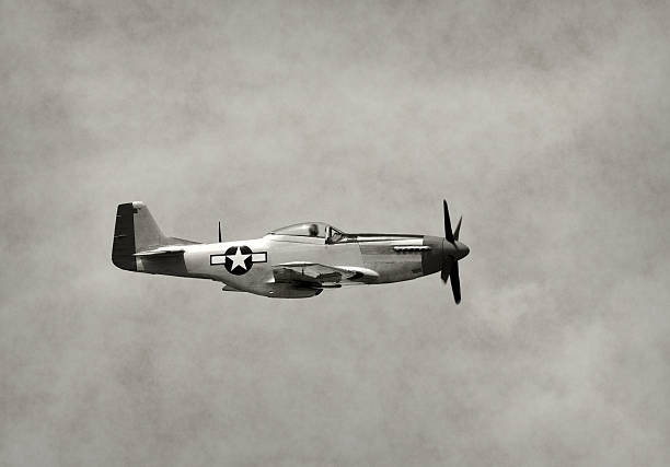 Old fighter airplane in flight – Foto