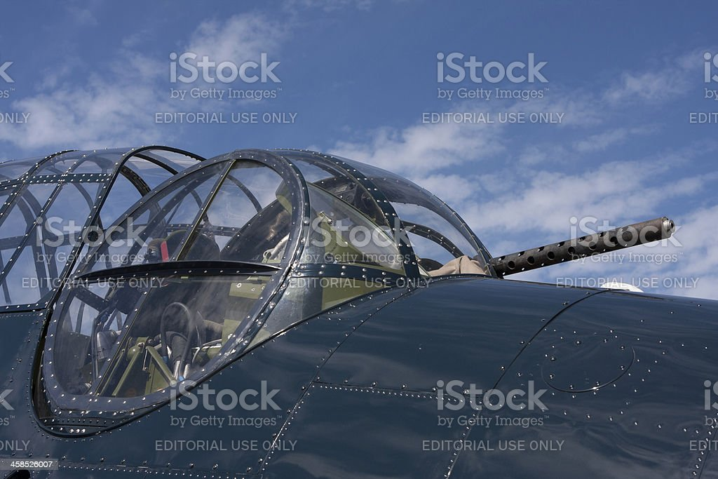 Old Fighter Plane stock photo