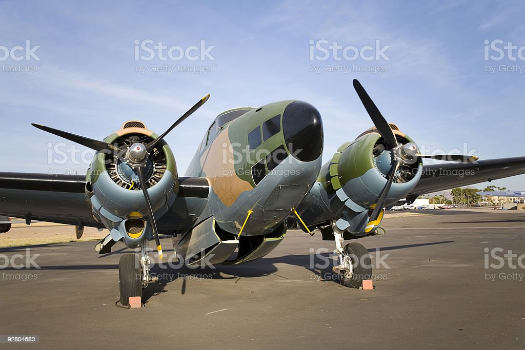 Old Fighter Plane royalty-free stock photo