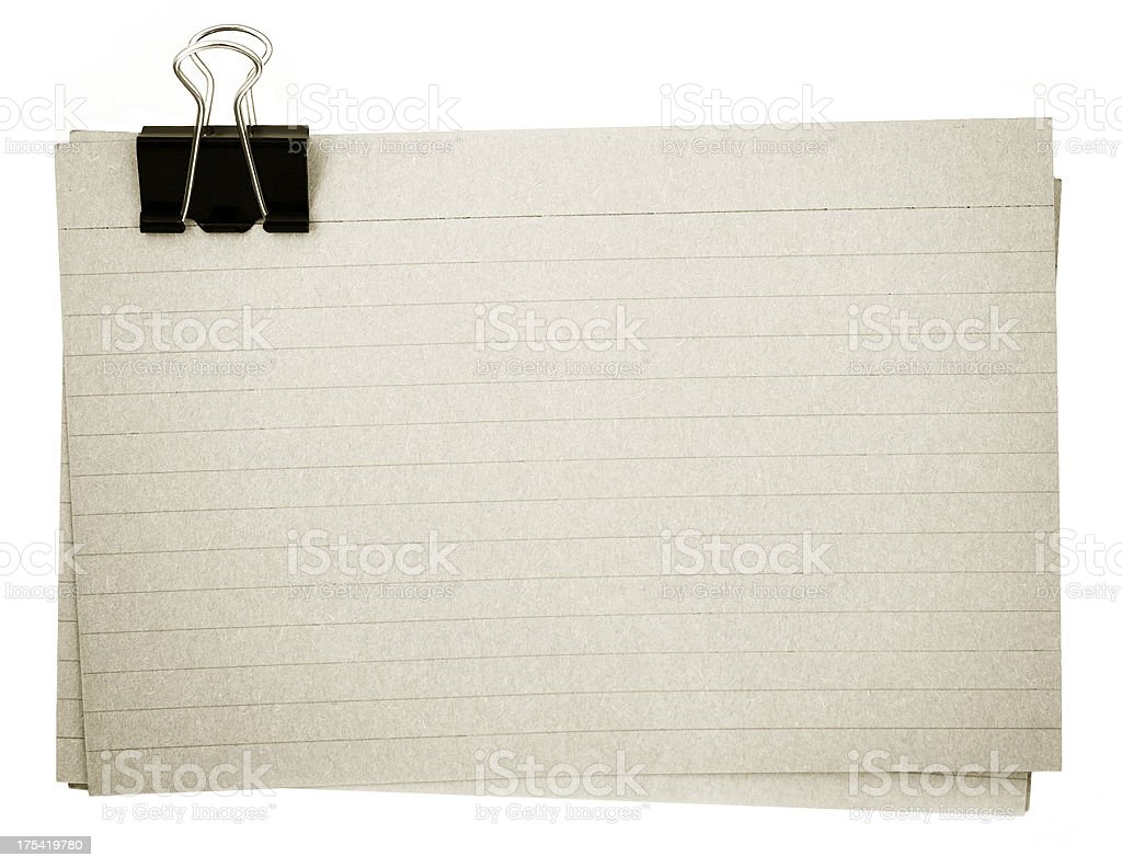 Old file cards royalty-free stock photo