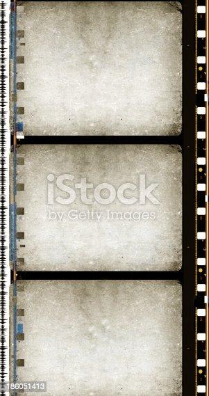 Old 35 mm movie Film reel folded