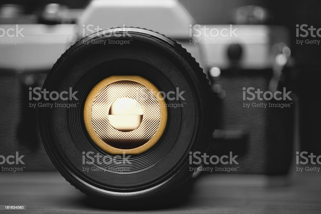 Old Film Camera Closeup royalty-free stock photo