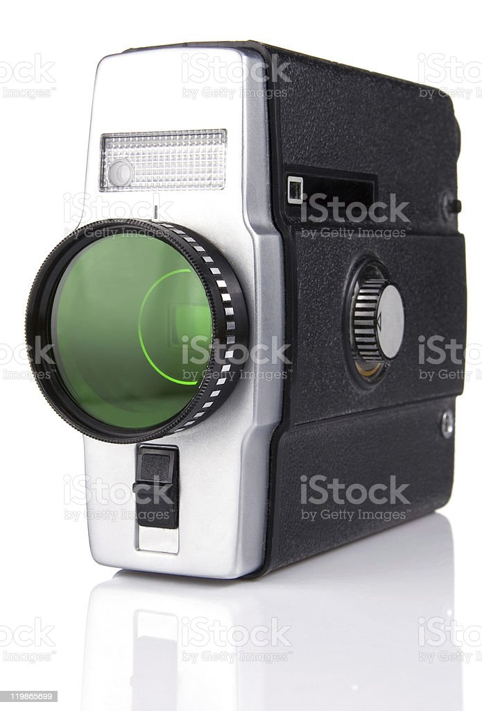 old film camera isolated on white royalty-free stock photo