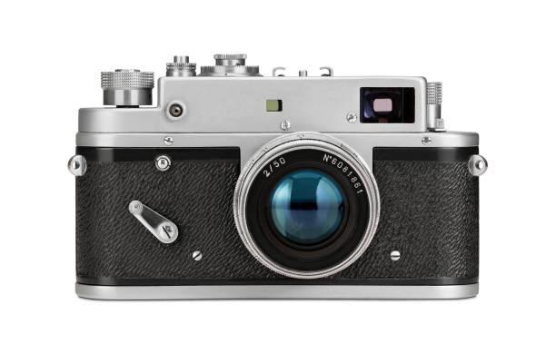 Vieux film caméra isolé sur blanc - Photo