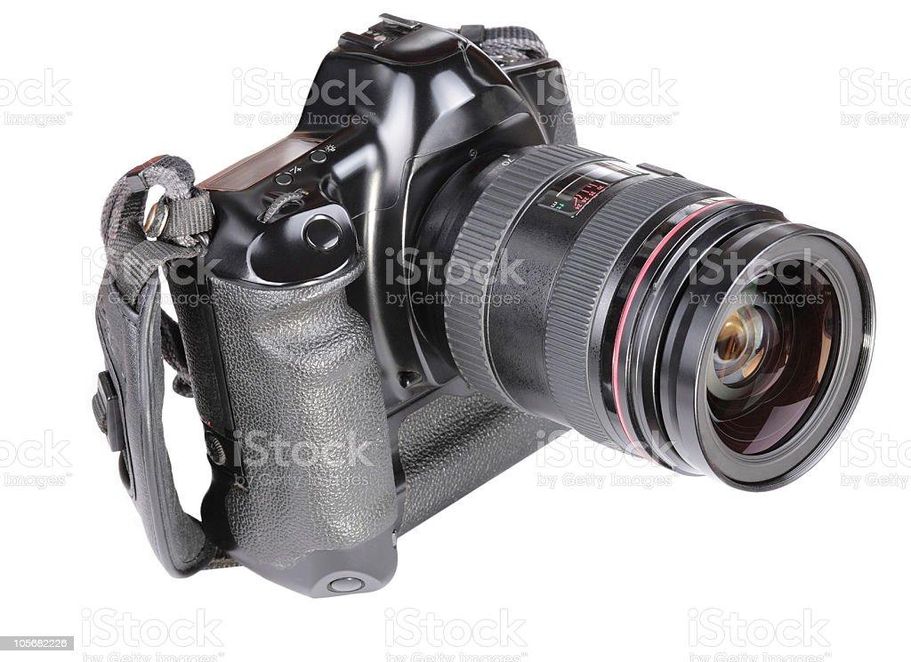old film camera isolated stock photo