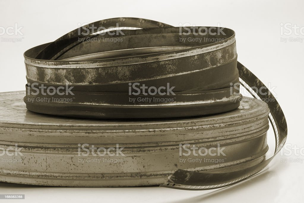 Old film cans royalty-free stock photo