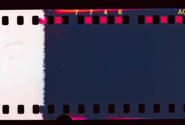 Old Film Light leak stock photo