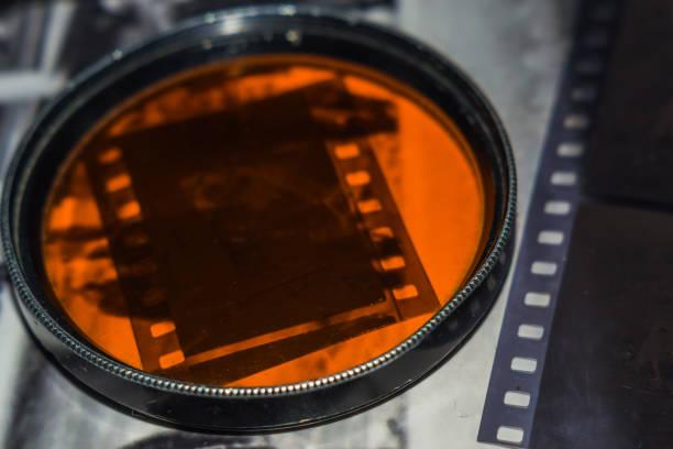 old film negative stock photo