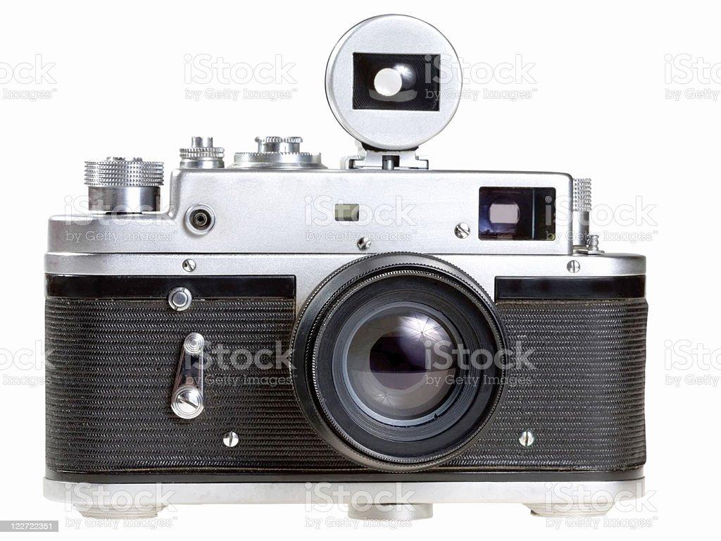 old film photocamera stock photo