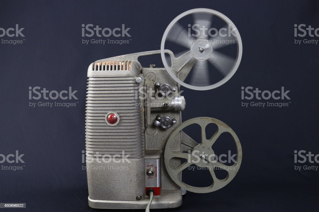Old Film Projector stock photo