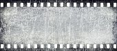 Wide filmstrip texture with scratches