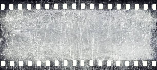 Old filmstrip texture stock photo