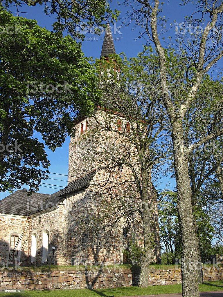 Old Finnish church royalty-free stock photo