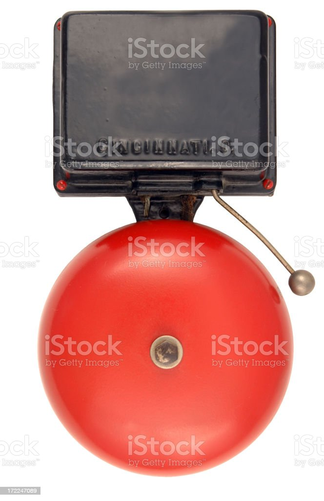 Old Fire Alarm Bell stock photo