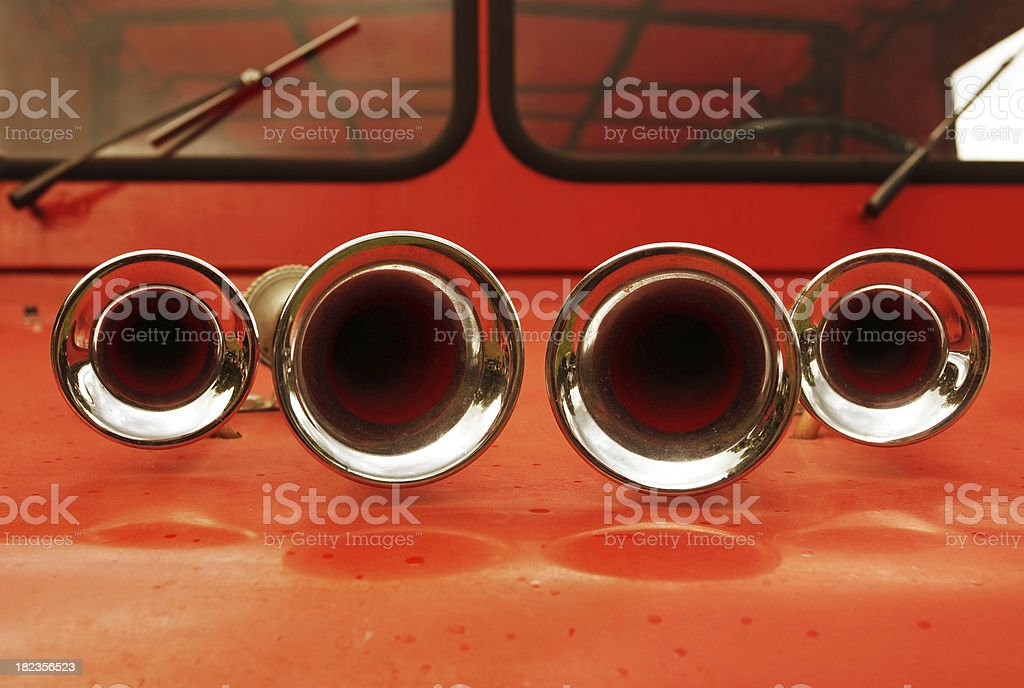 Old Fire Engine Siren stock photo