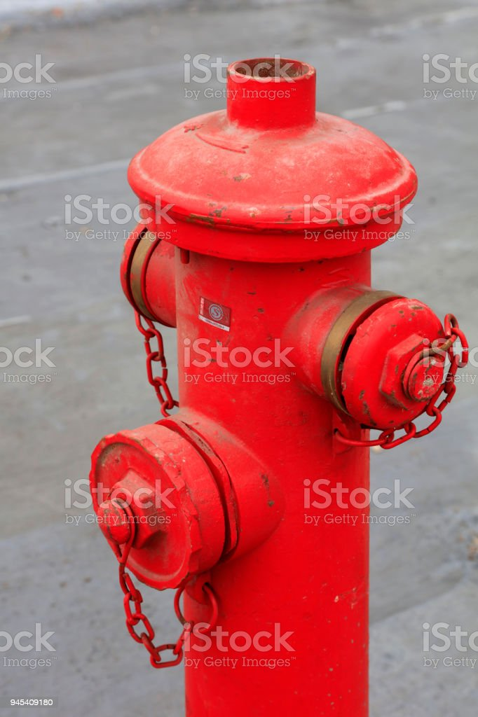 old fire hydrant, closeup of photo stock photo