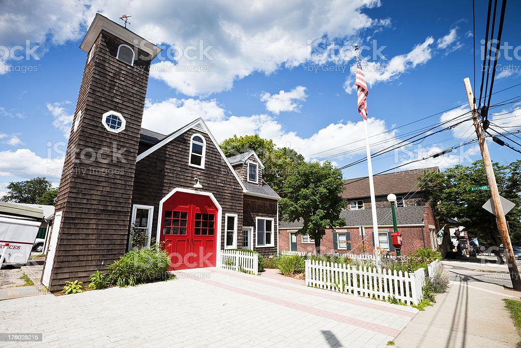 Old Fire Station in Jamestown stock photo