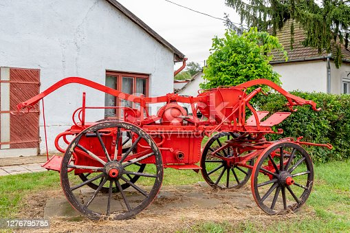 istock old fire truck in Szob, Hungary 1276795785