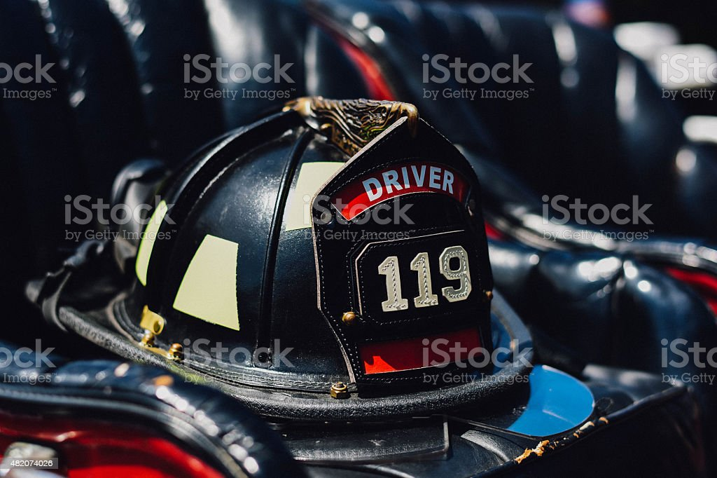 Old Firefighter Hat stock photo