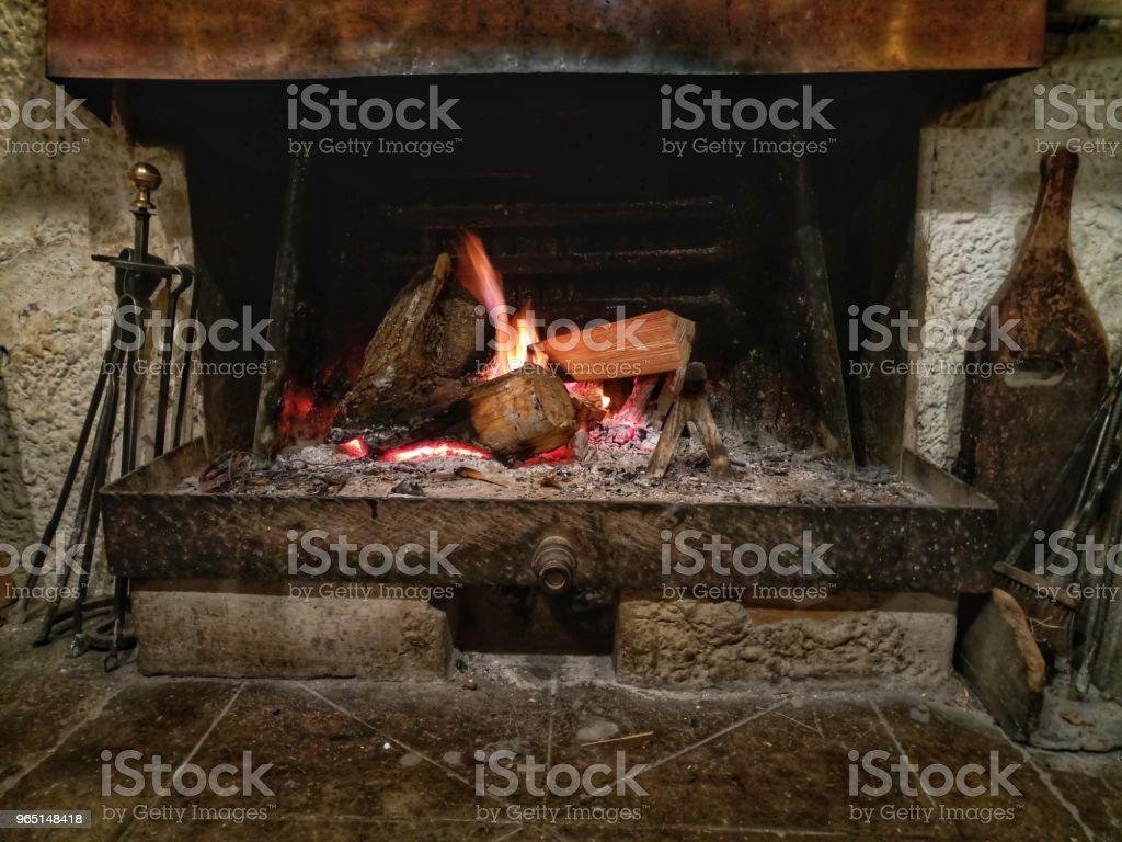 Old fireplace zbiór zdjęć royalty-free