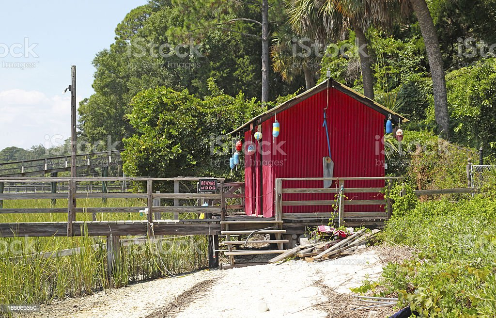 Old Fish House royalty-free stock photo
