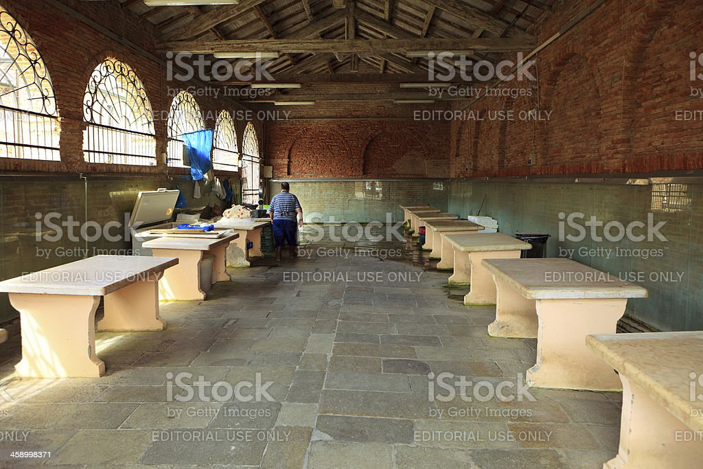 Old fish market in Cesenatico, Italy royalty-free stock photo