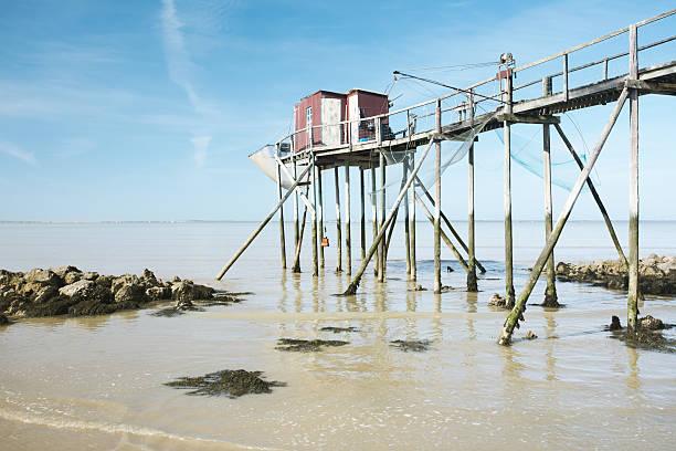 Antigua cabaña de pescadores - foto de stock