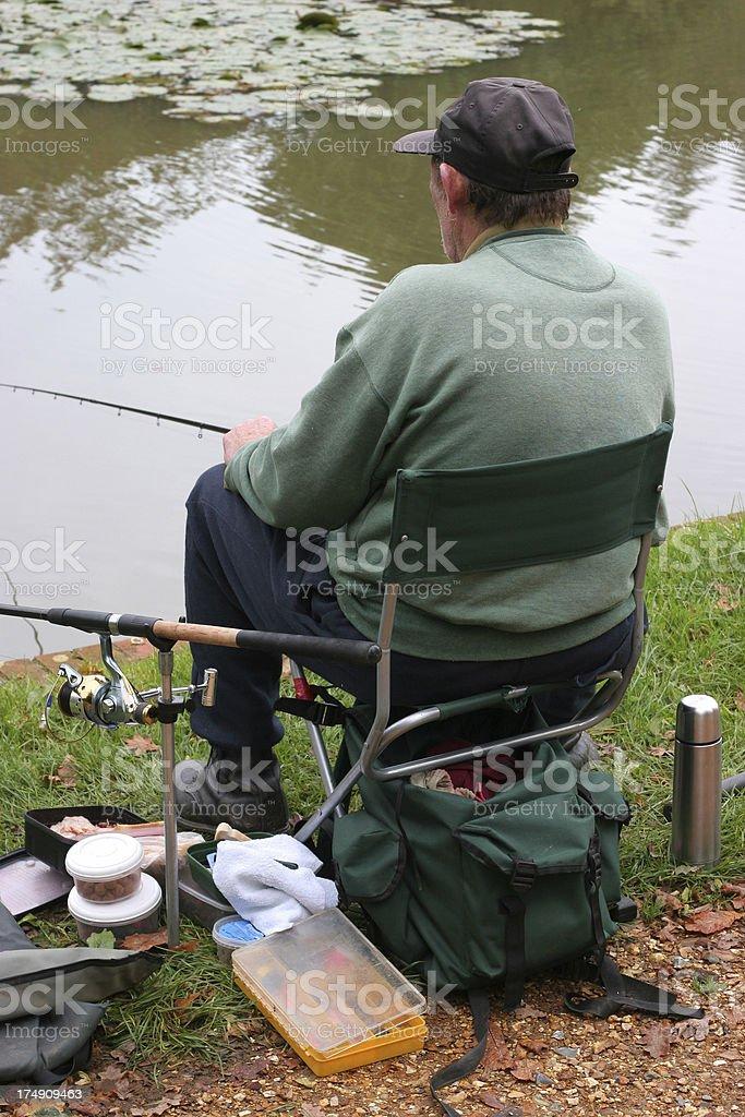 old fisherman royalty-free stock photo