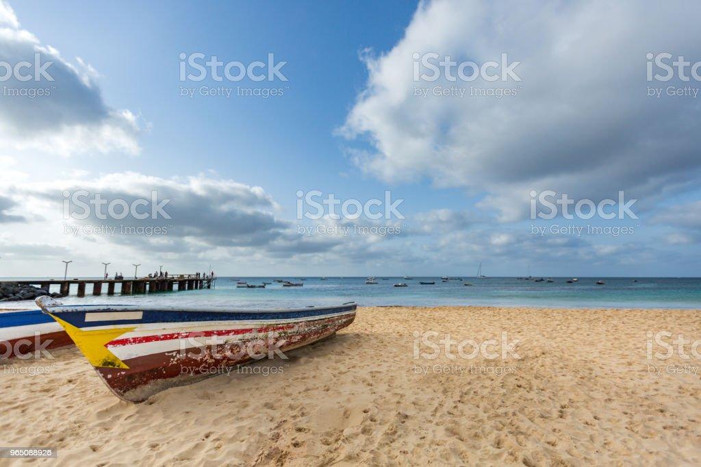 Old fisherman's boats royalty-free stock photo