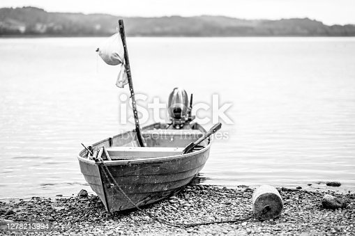 Old fishing boat on the coast
