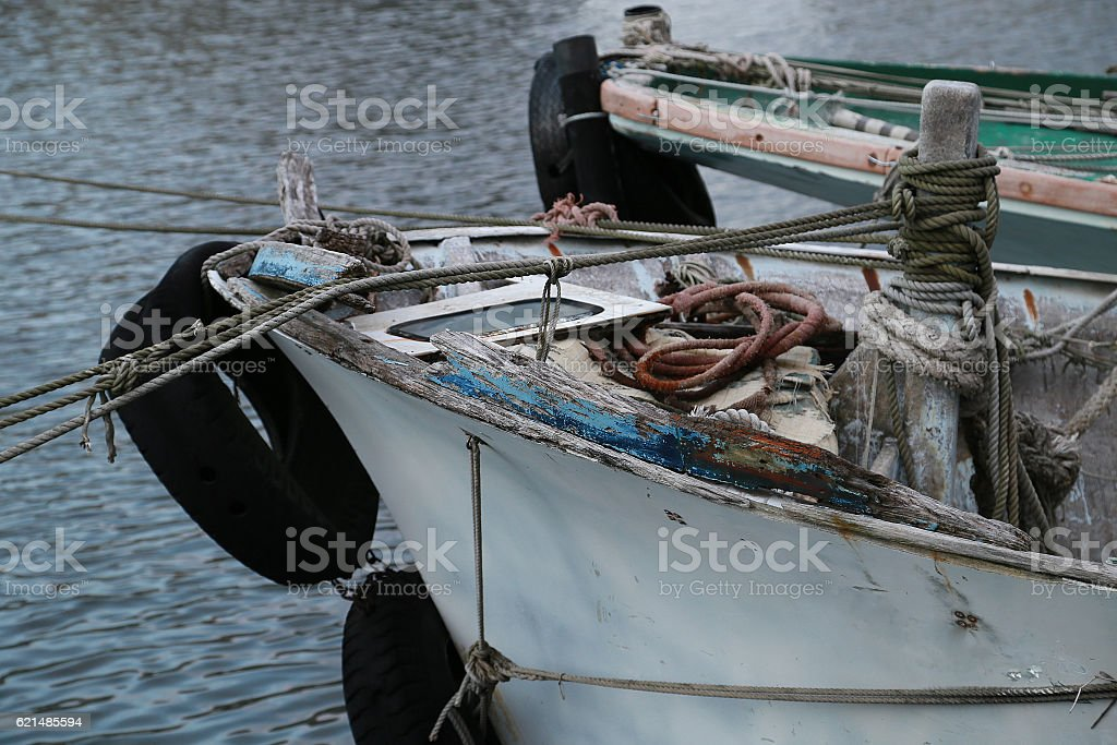 Alte Angeln Boot  Lizenzfreies stock-foto