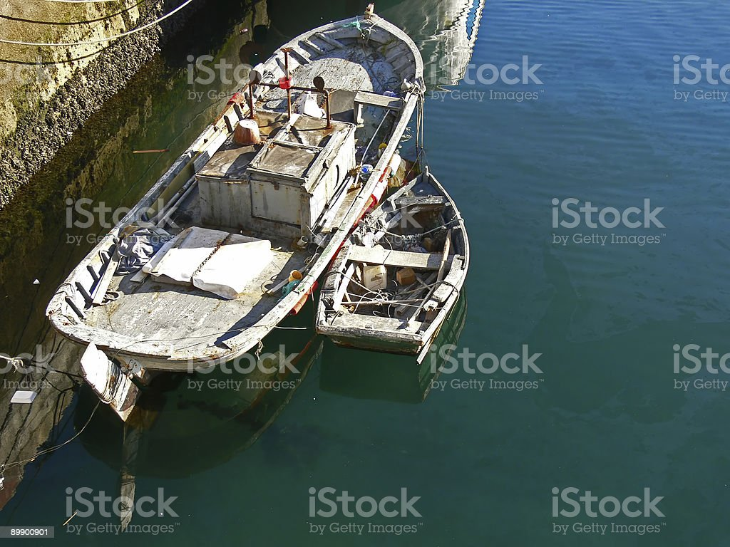 Viejo barco de pesca royalty-free stock photo