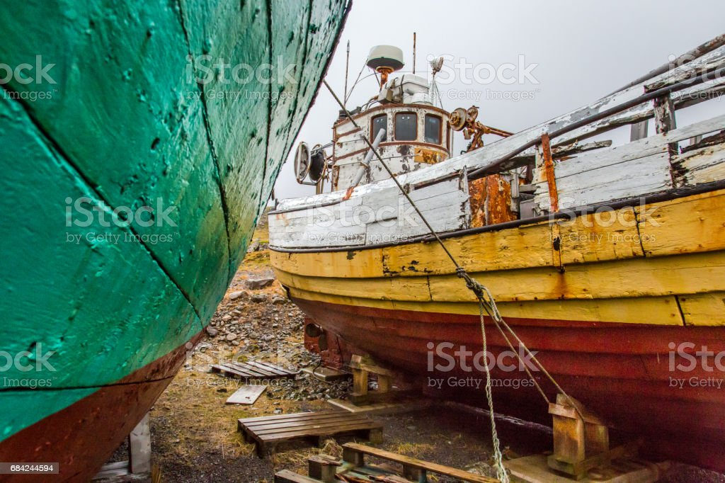 Old Fishing Boats royalty-free stock photo