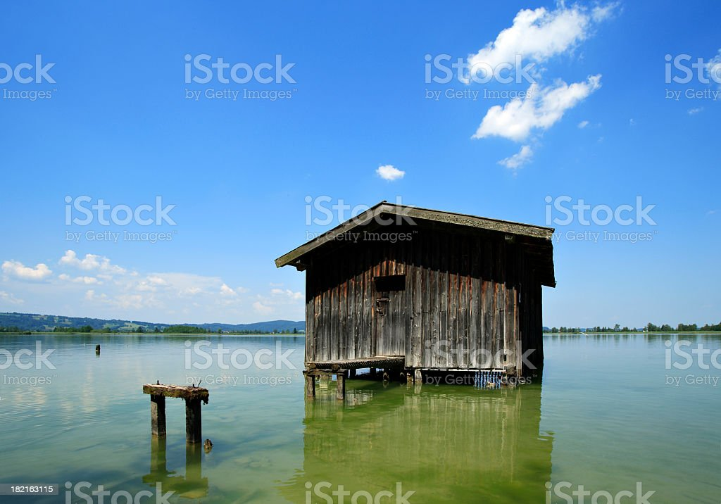 Old Fishing Hut stock photo