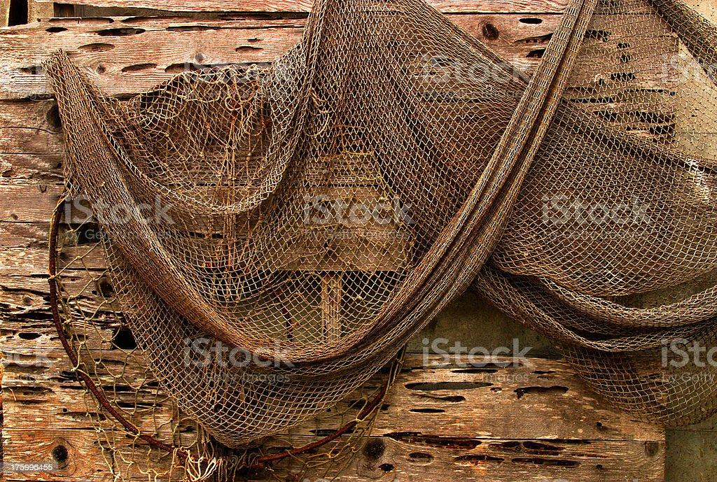 Old fishing net royalty-free stock photo