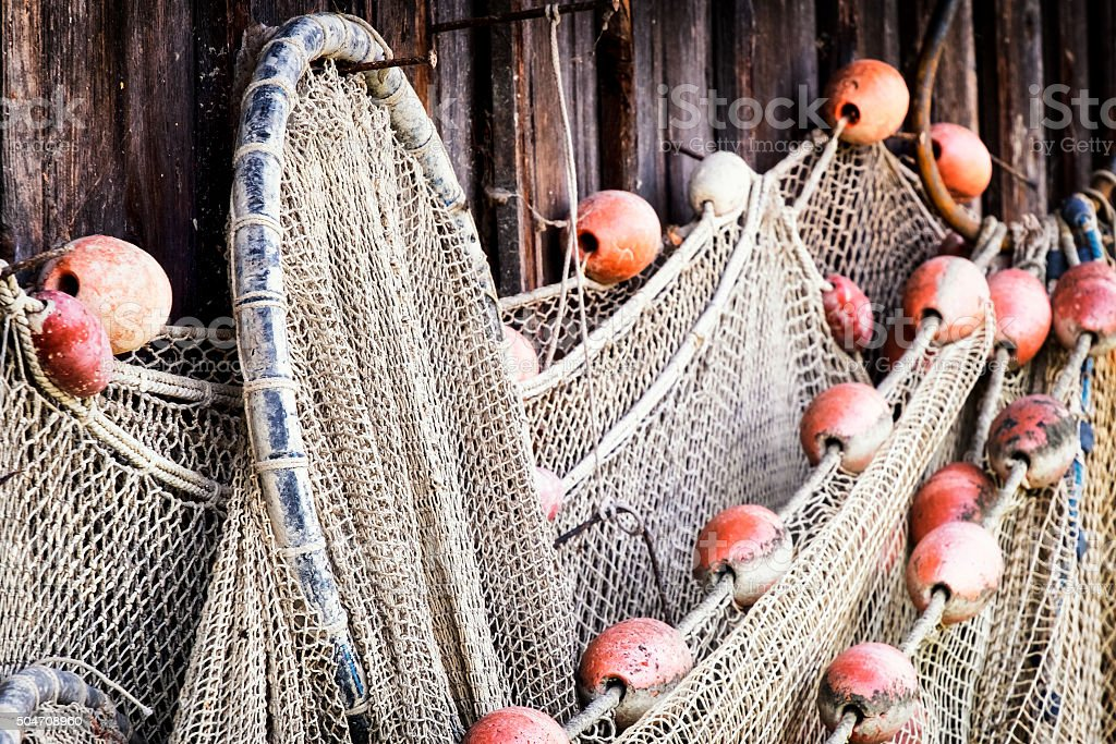 old fishing net stock photo