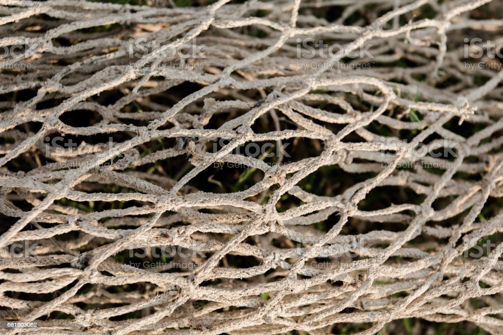 Old fishing nets stock photo