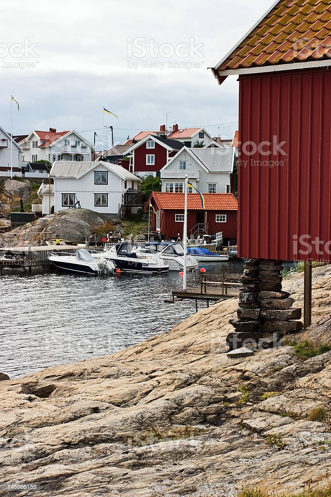 Old fishing village royalty-free stock photo