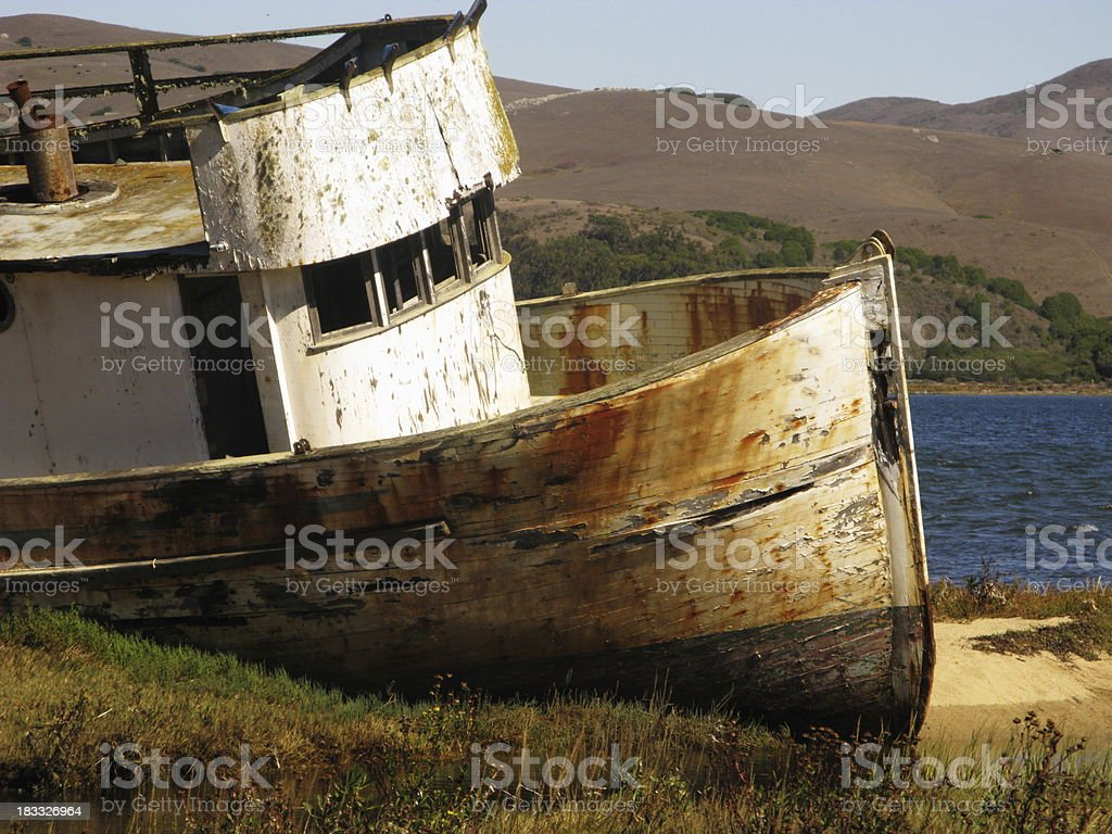 Old Fishing Wooden Boat royalty-free stock photo